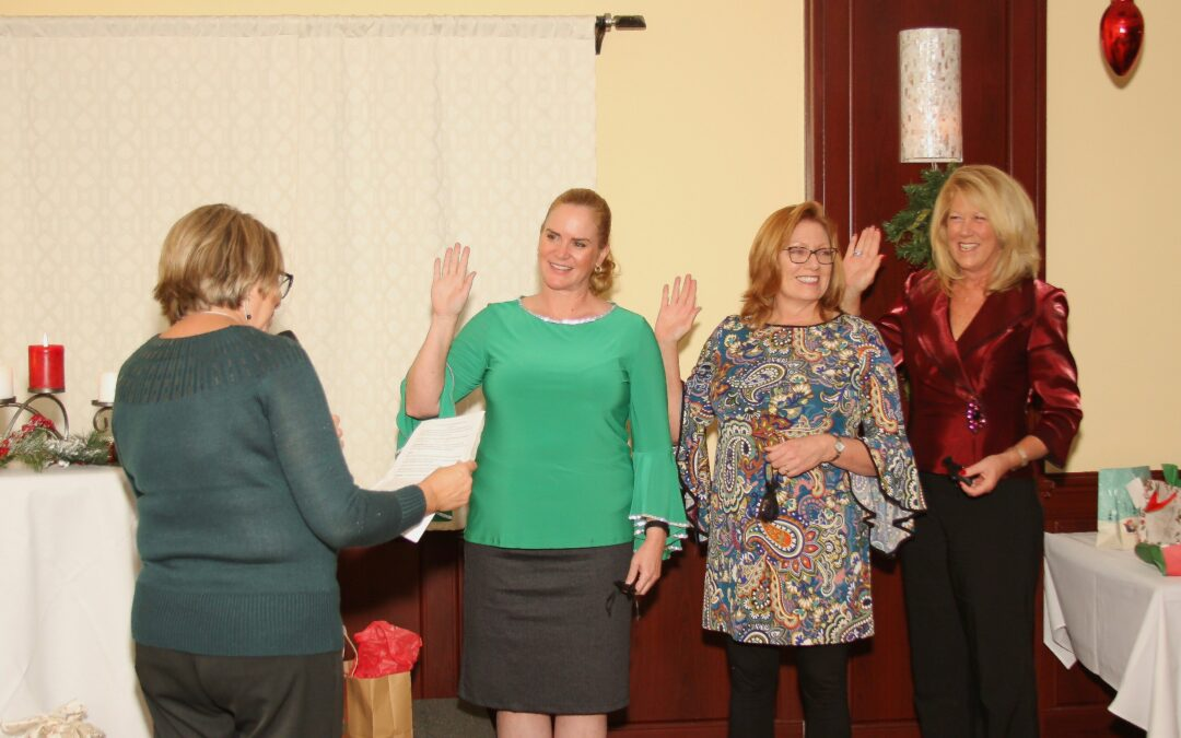 Port St. Lucie Business Women Install New Board At Holiday Gathering 2019
