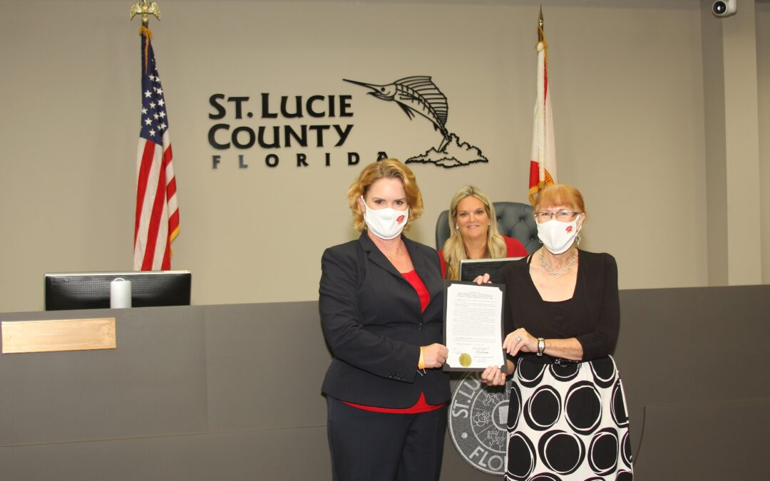 St. Lucie County Commission Recognizes  Port St. Lucie Business Women  For Four Decades Of Community Action and Service